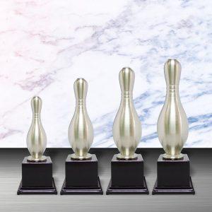 Silver Trophies EXWS6034 – Exclusive White Silver Bowling Trophy