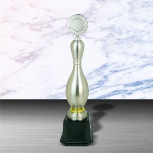 Silver Trophies EXWS6070 – Exclusive White Silver Bowling Trophy