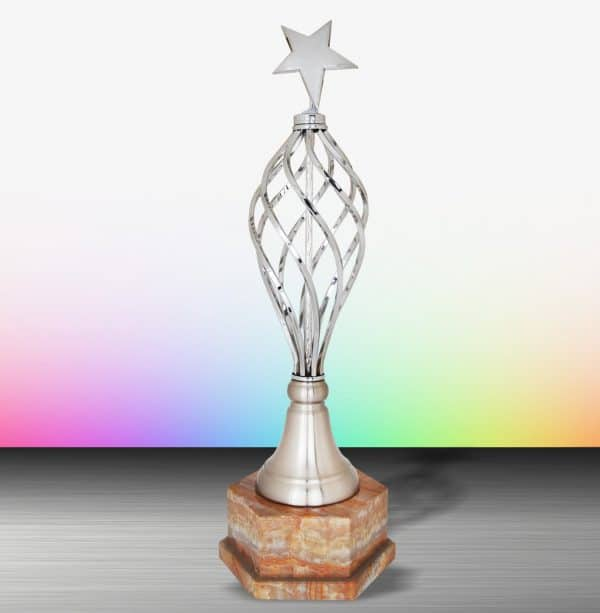 Silver Trophies EXWS6188 – Exclusive White Silver Trophy (Star)
