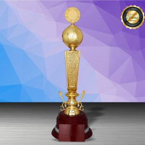 Silver Trophies EXWS6203 – Exclusive White Silver Globe Trophy