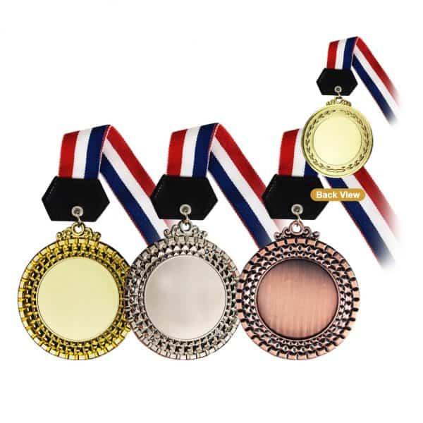 Medals MEM010 – Hanging Medal Metal (GOLD, SILVER, BRONZE)
