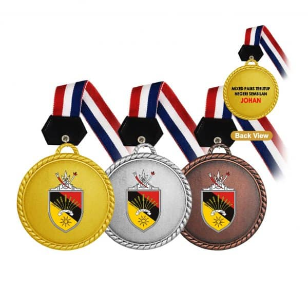 Medals MEM016 – Hanging Medal Metal (GOLD, SILVER, BRONZE)