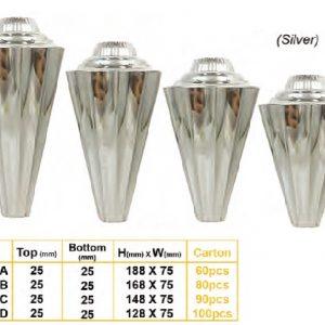 Plastic Trophies PLTC0100 – Plastic component silver