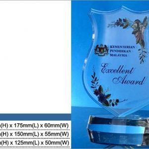 Acrylic Plaques SP5020 – Shield Acrylic Plaque