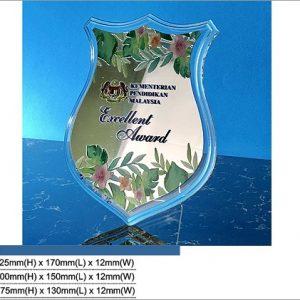 Acrylic Plaques SP5022 – Shield Acrylic Plaque
