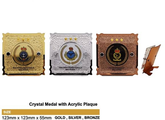 Medals SP5037 – Crystal Hanging Medal with Acrylic Plaque