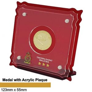 Medals SP5039 – Crystal Hanging Medal with Acrylic Plaque