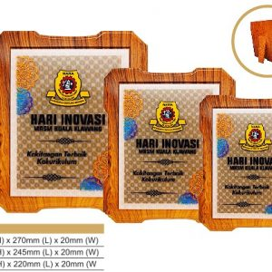 Plaques WP7188 – Modern wooden awards 3D effect printing