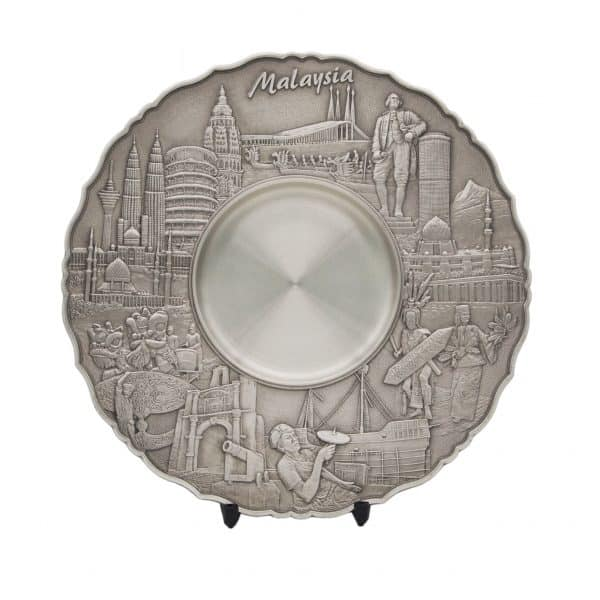 Pewter Plaques WP7224 – Malaysia Landmark Pewter Tray