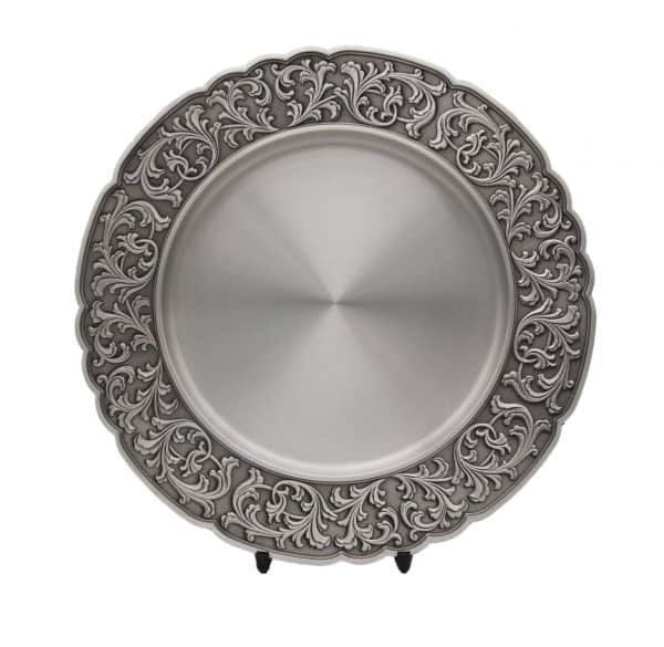 Pewter Plaques WP7225 – Wood Carving Scallop Tray