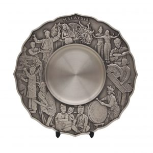 Pewter Plaques WP7227 – Cultural Dance Pewter Plate
