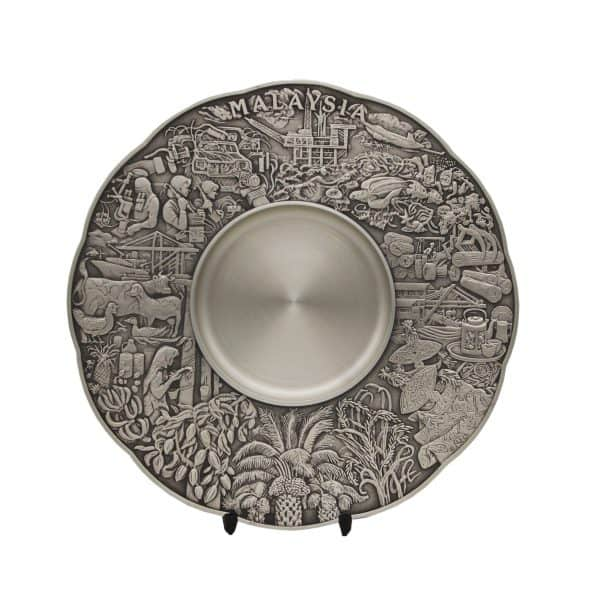 Pewter Plaques WP7228 – Maju Motif Pewter Plate