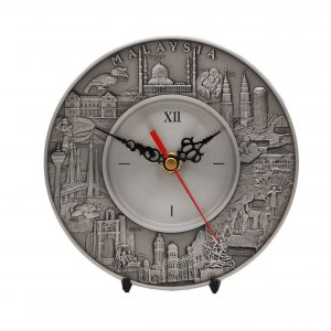 Pewter Plaques WP7229 – Malaysia Landmark Pewter Clock Plate