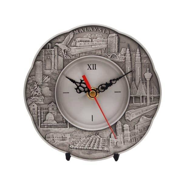 Pewter Plaques WP7230 – Malaysia Landmark Pewter Clock Plate