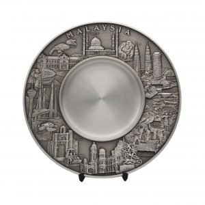 Pewter Plaques WP7232 – Malaysia Landmark Pewter Plate